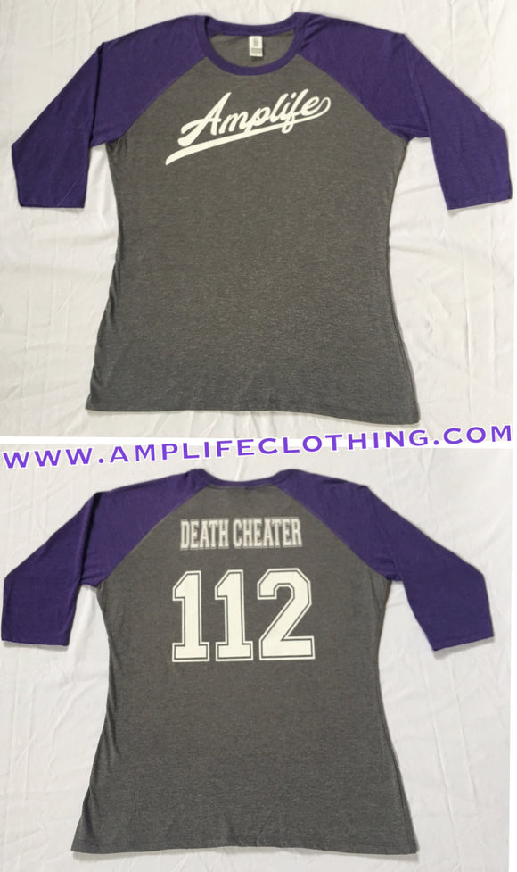 AMPLIFE Death Cheater Raglan Grey With Purple