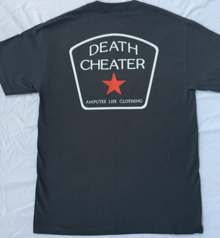 Death Cheater All Star Back Print with Left Chest Grey T-Shirt