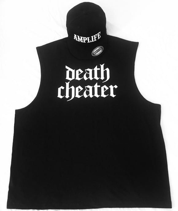 Death Cheater Sleeveless T-Shirt Black White