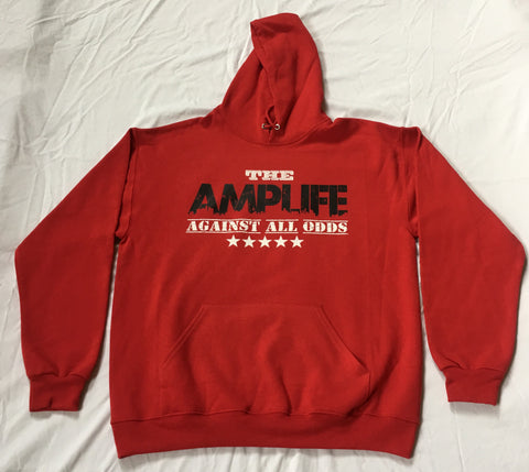 AMPLIFE AGAINST ALL ODDS Red Hooded Sweatshirt