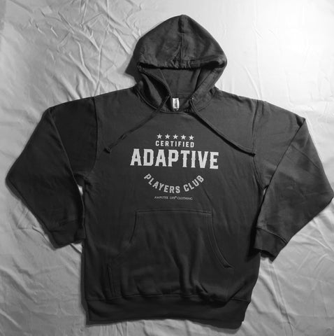 Certified Adaptive Players Club Hoodie Available in Grey Or Black
