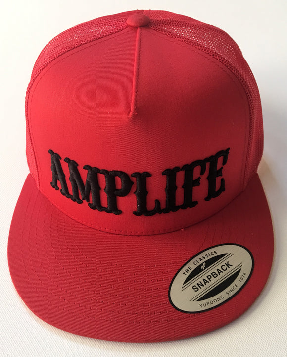 AMPLIFE Red and Black SnapBack Trucker