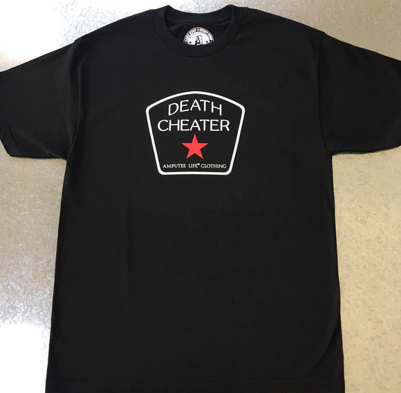 DEATH CHEATER ALL STAR Black T-Shirt - Amputee Life® Clothing