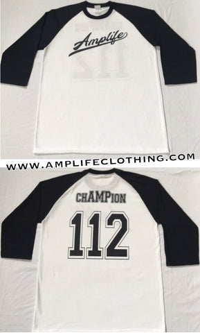 Amplife chAMPion Raglan White With Black