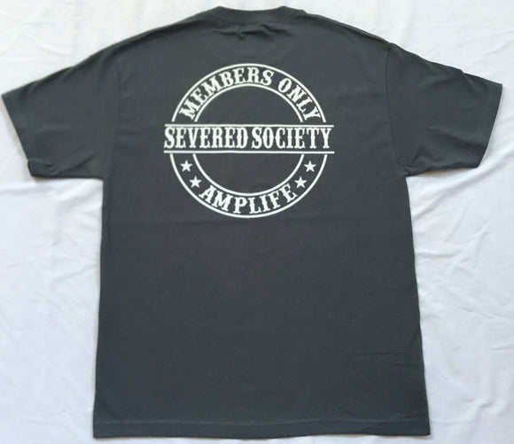 Members Only Severed Society Grey with White T-Shirt