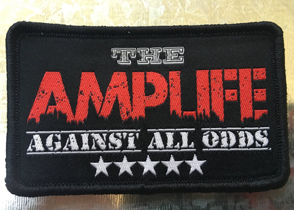 AMPLIFE AGAINST ALL ODDS  Sew On Patch