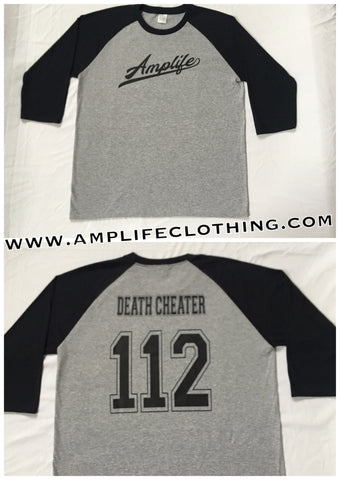 Amplife Death Cheater Raglan Grey With Black