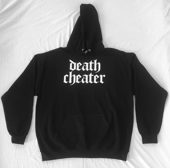 Death Cheater Hoodie Black with White