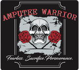 AMPUTEE WARRIOR Black Short Sleeve T-Shirt