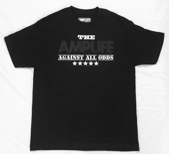 AMPLIFE Against All Odds T-Shirt Black on Black T-Shirt