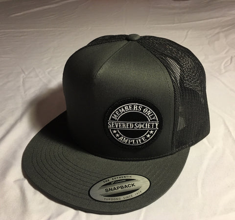 Members Only Severed Society Snap Back Trucker Hat Grey