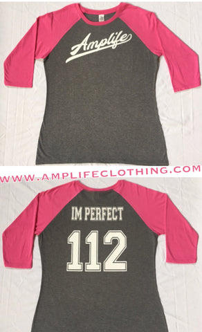 Amplife IM PERFECT Raglan Grey with Pink