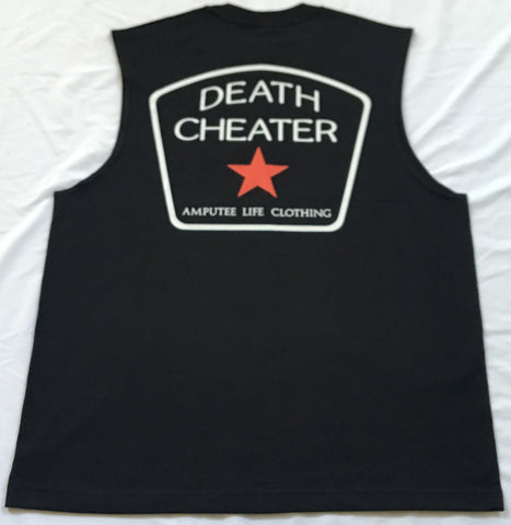 Death Cheater All Star Back Print with Left Chest Black SleevelessT-Shirt