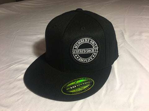 Members Only Severed Society Hat Black Flat Bill Flex Fit