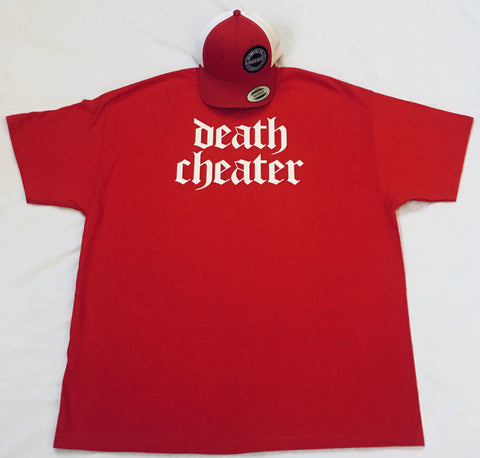 Death Cheater T-Shirt Red or Grey with White
