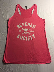 Severed Society Never Surrender Ladies Tank Pink