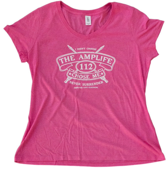 AMPLIFE™ CHOSE ME Ladies V-Neck Available in Black or Pink