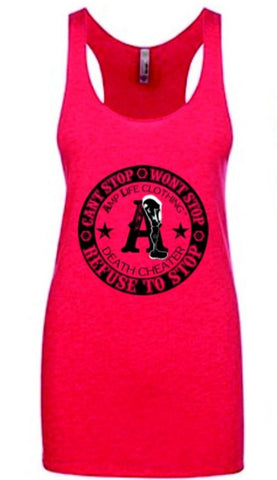 AMPLIFE™ DEATH CHEATER LADIES TANK- Vintage Pink - Amputee Life® Clothing