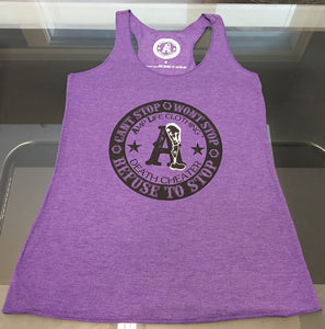 AMPUTEE LIFE® DEATH CHEATER LADIES TANK- Purple - Amputee Life® Clothing