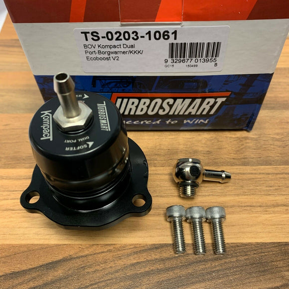 Ford Focus 2.5 Mk2 RS ST ST225 TURBOSMART Shortie BOV Dual Port Dump Valve