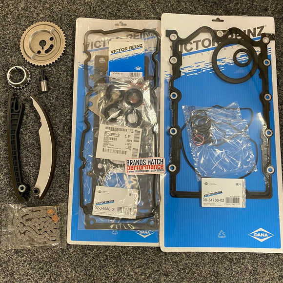 BMW Mini Cooper One W10B16A R50 R52 MLS Reinz Full Gasket Set & Timing Chain Kit
