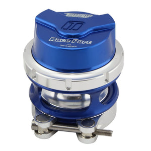 Turbosmart Gen V Race Port Blow Off Valve BOV - BLUE With Female Flange