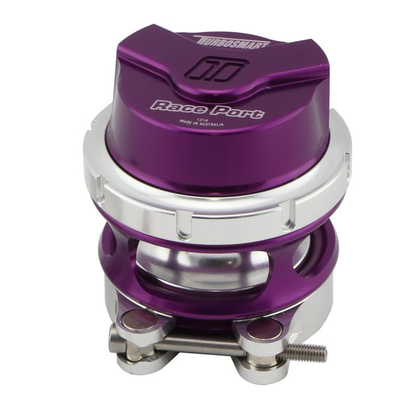Turbosmart Gen V Race Port Blow Off Valve BOV - PURPLE With Female Flange