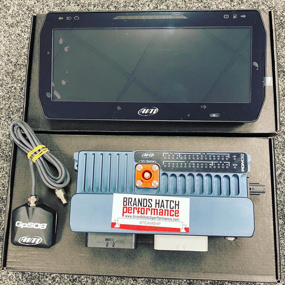 Aim Motorsport Power Distribution Module PDM32 With GPS Sensor, Data Logging And TFT Screen Included