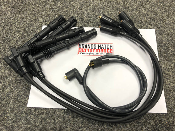 BLACK 2WD Cosworth Spark Plug Ignition HT Leads Set