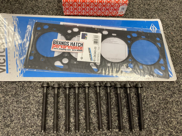 Ford Focus ST170 2.0 Zetec 4 Multi Layer MLS 1.3mm Reinz Head Gasket & Elring Headbolts