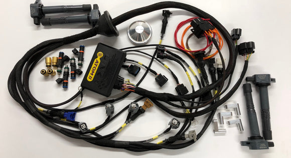 Link G4X Atom X ECU Ford RS Cosworth YB engine Kit with Wiring Engine Loom & Bosch 550cc / 1000cc Injectors & K20 Coils