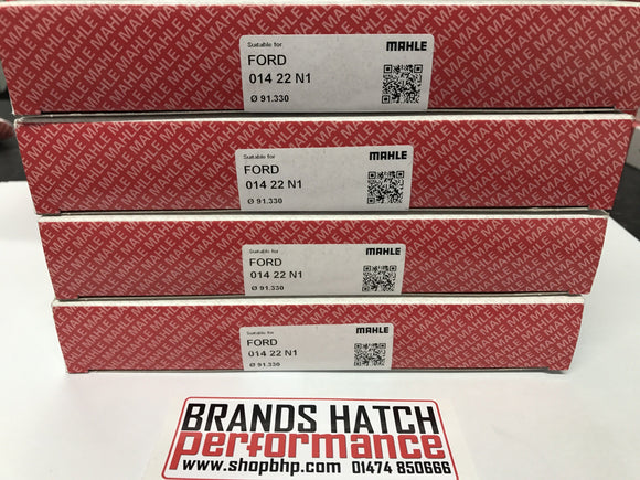 4 X PINTO 2.0 OHC MAHLE 0.5MM PISTON RINGS - COMPLETE SET 91.33 bore 014 22 N1