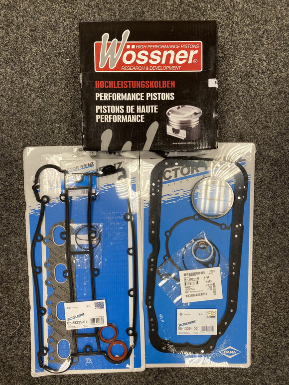 Vauxhall C20XE 2.0 Reinz Full Engine Gasket WOSSNER forged High Comp 3 Ring Piston Pec Rod Rebuild Kit
