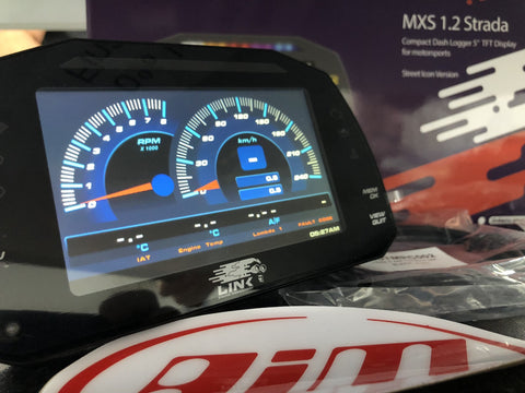 Link ECU MXS Strada CAN ROAD RACE Car Dash DisplayLink MXS Strada CAN ROAD RACE Car Dash Display