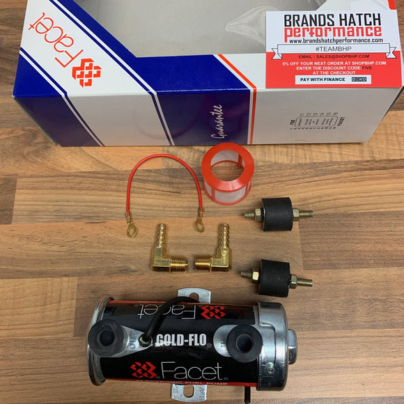Genuine FACET Red top Fuel Pump kit with 8mm 90 degree unions 480532K