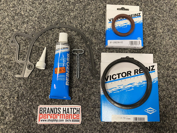 Vauxhall C20XE C20LET Reinz Oil Pump METAL Gasket + Rear & Front Crankshaft Seal