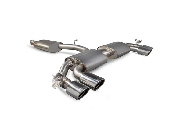 Audi TT S Mk3 Non GPF Model Only Reasonated cat-back (with valves)  SAU055 Scorpion Exhaust