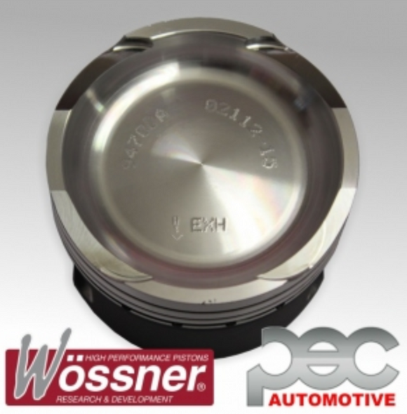 Fiat 500 Abarth 1.4 16v Turbo 9.8:1 Wossner Forged Pistons Set With Hard Anodising