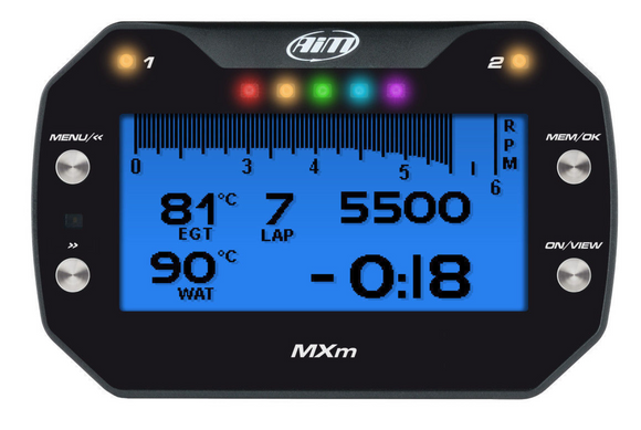 Aim Motorsport MXm Compact Dash Data Logger Display - Car Bike Kitcar