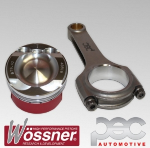 Wossner FORD 1.6 ST180 Ecoboost Turbo Low Comp PEC Forged Pistons & PEC Rods Set