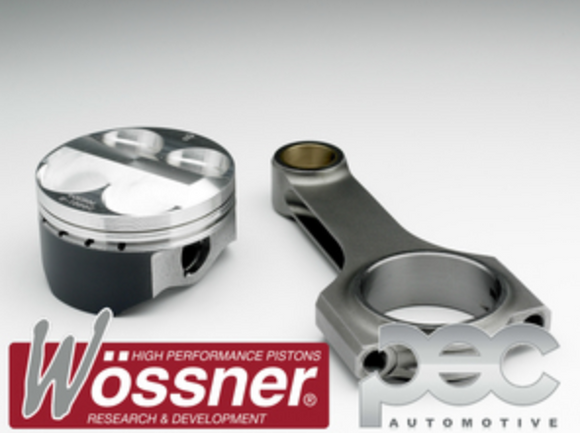 Wossner FORD 2.0 Blacktop Zetec High Comp Forged Pistons & PEC Rods Set