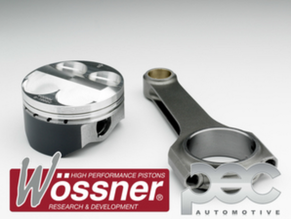 Wossner FORD 2.0 Silvertop Zetec High Comp Forged Pistons & PEC Rods Set