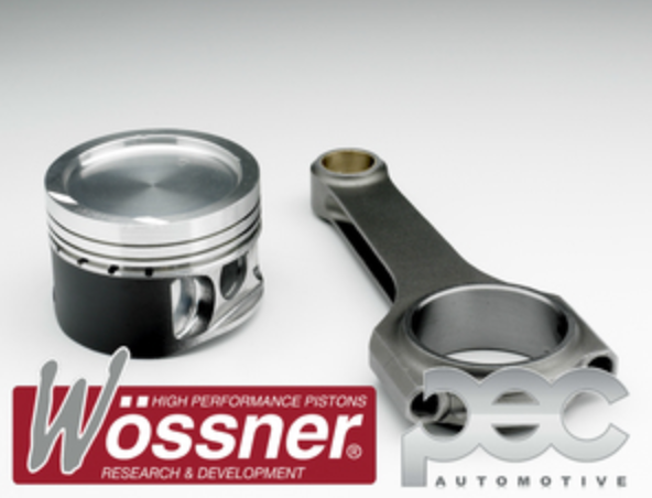 Wossner Vauxhall Z20LEH & Z20LET 2.0 16v Turbo Forged Pistons & PEC Rods Set
