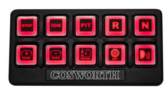 Cosworth Electronics Rubber Switch Panel  - 10 or 20 switches