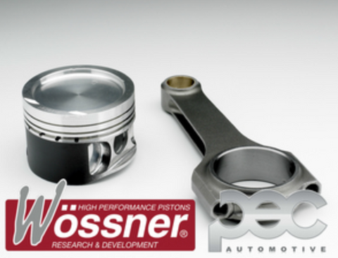 Wossner VW AUDI 1.8 20V Turbo 9.5:1 High comp Forged Pistons & PEC Rifle Drilled Rods Set