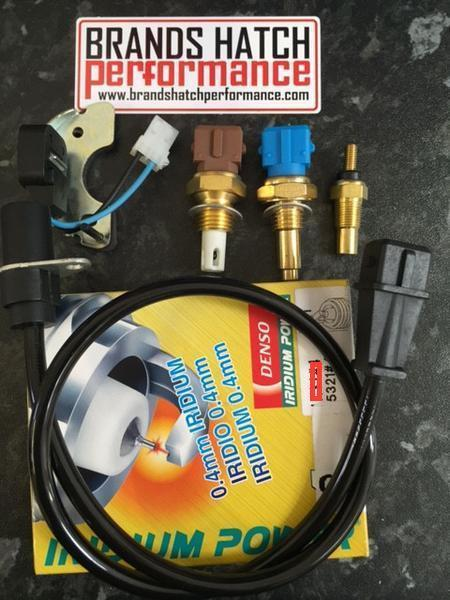 Cosworth YB Temperature & Pickup Sensor Kit - 5 Sensors & Denso IK27 Plugs