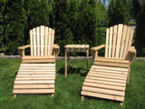 Adirondack Chair Foot Rest and Tables