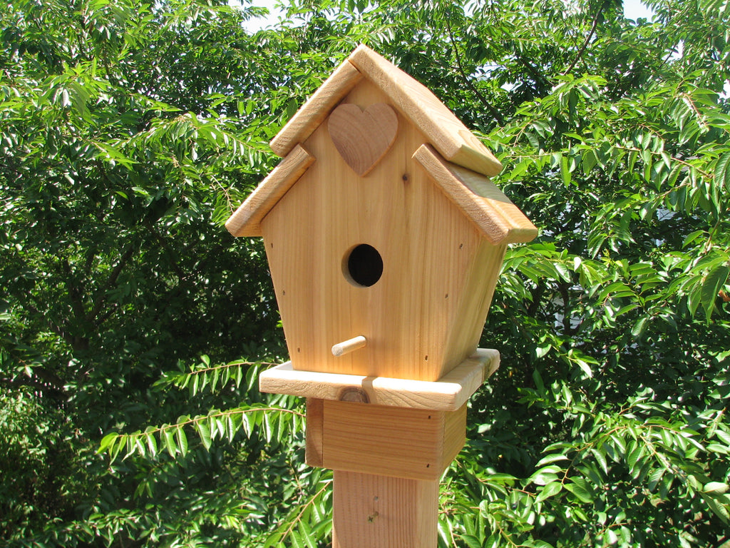 Cedar Stacked Roof Bird House
