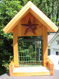 Cedar Suet Bird Feeder Red Stars