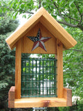 Cedar Suet Bird Feeder Red, White & Blue Stars